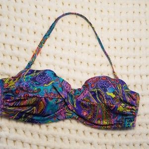 Victoria's Secret bikini top 36B turquoise purple